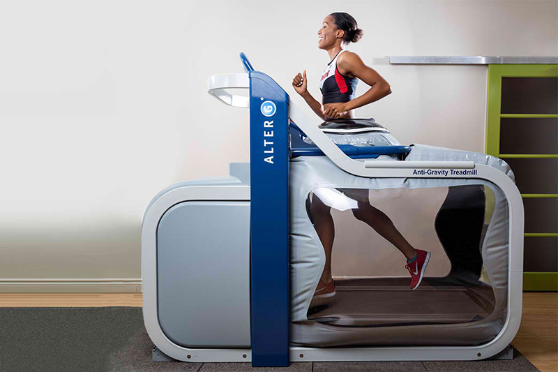 USA Sports Therapy | Aventura has an on site Alter-G Anti-Gravity Treadmill. This treadmill allows athletes to start rehab and progress quicker! Find out more by contacting our Aventura location today!